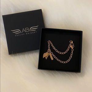Ashley Bridget rose gold guardian angel bracelet